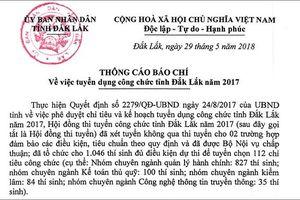 Đắk Lắk khẳng định sự minh bạch trong kỳ thi công chức của tỉnh