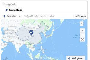 Facebook đã bỏ Trường Sa, Hoàng Sa khỏi bản đồ Trung Quốc