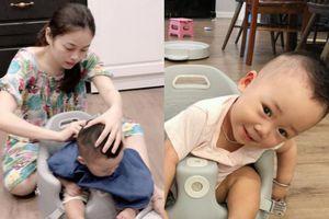 Tự tay cắt tóc cho Peter, hotmom Hằng túi được cộng đồng mạng dành nhiều lời cảm ơn vì đã chăm sóc con trai Bella chu đáo