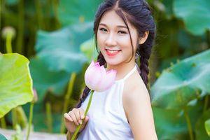 Nữ sinh Học viện Tài chính xinh đẹp như 'thần tiên tỷ tỷ' giàu thành tích thi Hoa khôi