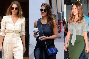 Jessica Alba thay đổi 3 bộ trang phục cho một ngày làm việc bận rộn