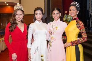 2 hoa hậu hot nhất Việt Nam lúc này, H'Hen Niê - Đỗ Mỹ Linh lần đầu tiên đọ sắc trong tà áo dài