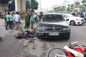 Nữ tài xế BMW gây tai nạn liên hoàn vào giờ tan tầm