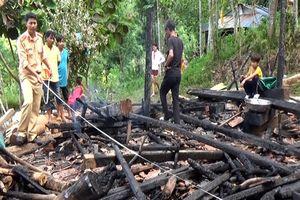 Nghi án chồng châm lửa đốt nhà sau khi cãi nhau với vợ