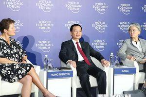 Quang cảnh buổi họp báo các nhà đồng chủ trì WEF ASEAN 2018