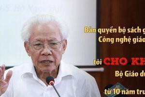 Clip: GS.Hồ Ngọc Đại nói có 'lợi ích nhóm' sau tiếng Việt 1, bộ GD&ĐT nói gì?