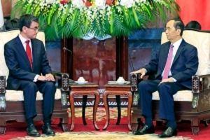 Chủ tịch nước Trần Ðại Quang tiếp Bộ trưởng Ngoại giao Nhật Bản