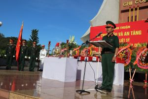 Bình Thuận làm lễ truy điệu 9 liệt sĩ vừa tìm thấy hài cốt