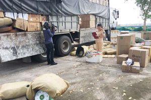 Bắt ô tô tải vận chuyển hơn 1.200 kg thịt đà điểu đông lạnh ôi thiu