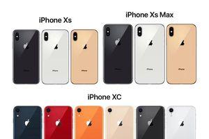 Ngm k b ba sn phm iPhone 2018 va ra mt giá t 749 USD n 1.099 USD
