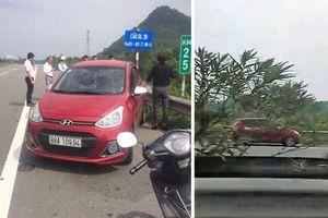 Tước giấy phép lái xe của nữ tài xế chạy ngược chiều vun vút trên cao tốc Nội Bài - Lào Cai