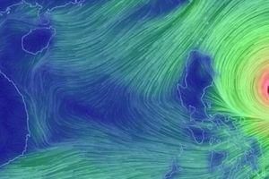 Siêu bão MANGKHUT mạnh cấp 17 tăng tốc vào Biển Đông, biển động dữ dội