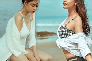 Mẹ đơn thân Trương Quỳnh Anh để ngực trần táo bạo trên bãi biển