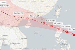 Tin bão Mangkhut mới nhất và dự báo thời tiết 7 ngày tới 14-21/9/2018