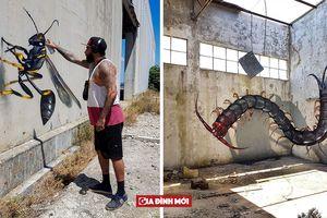 Tranh 3D 'y như thật' của bậc thầy graffiti khiến bạn phải nhìn lại lần hai