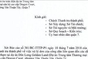 TP HCM kiểm tra toàn diện dự án Đức Long Golden Land ở quận 7
