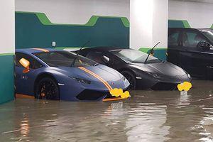 Hàng loạt siêu xe và xe sang hỏng nặng sau bão Mangkhut