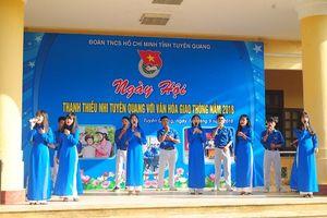 Ngày hội thanh thiếu nhi Tuyên Quang với văn hóa giao thông