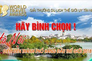 Bình chọn Hà Nội vào top điểm đến hàng đầu thế giới 2018