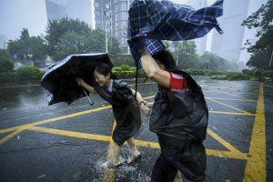 Loạt ảnh về siêu bão Mangkhut