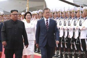Những hình ảnh đầu tiên về chuyến thăm Bình Nhưỡng của Tổng thống Hàn Quốc