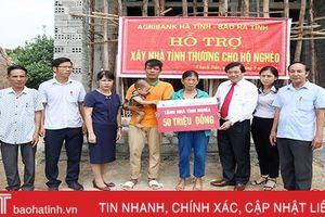Báo Hà Tĩnh - Agribank hỗ trợ xây nhà tình thương ở Thạch Bàn