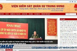 Khai trương Trang thông tin điện tử Viện kiểm sát quân sự Trung ương
