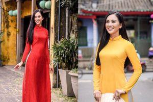 Tuổi 18, tân Hoa hậu Việt Nam Tiểu Vy khoe vẻ đằm thắm với áo dài