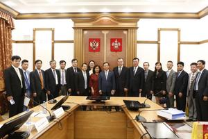 Đại sứ Việt Nam tại LB Nga Ngô Đức Mạnh thăm làm việc tại vùng Krasnodar
