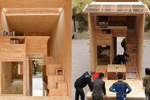 Độc đáo căn nhà gỗ 7m2 của sinh viên có thể chuyển đi khắp nơi