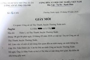 Công an huyện Thường Xuân bác thông tin mời phụ huynh vì tiền trường