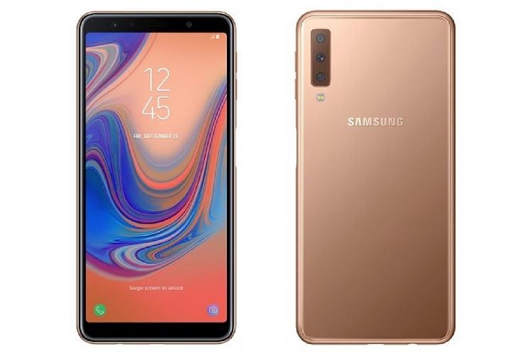 Rò rỉ hình ảnh Galaxy A7 2018 với cụm ba camera
