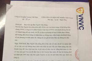 Hệ thống tiêm chủng VNVC gửi lời xin lỗi chính thức tới khách hàng