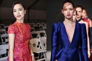Á hậu Dương Trương Thiên Lý bất ngờ xuất hiện rạng ngời trên thảm đỏ Vancouver Fashion Week