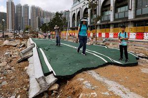 Hình ảnh siêu bão Mangkhut cày tung mặt đất Trung Quốc và Philippines