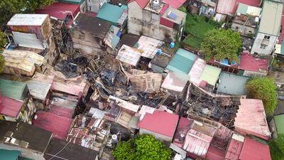 Toàn cảnh từ trên cao hiện trường vụ cháy kinh hoàng gần BV Nhi Hà Nội