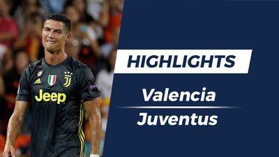Highlights Juventus đánh bại Valencia trong ngày Ronaldo nhận thẻ đỏ