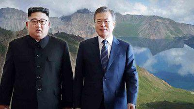 Kim Jong Un, TT Moon thăm ngọn núi 'linh thiêng'