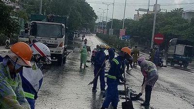 Đã xác định được 'hung thủ' làm vương vãi hàng tấn đá dăm xuống đường phố Đà Nẵng