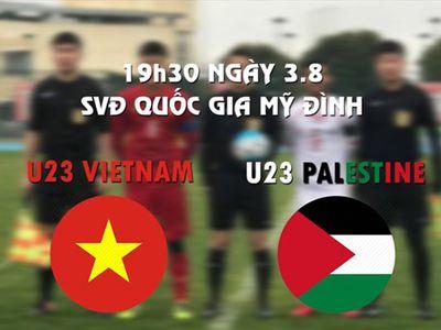 Vào lúc 19h30 tối nay (3.8), U23 Việt Nam sẽ gặp U23 Palestine ở trận ra quân giải bóng đá quốc tế U23- Cúp VinaPhone 2018. Cừng điểm qua lực lượng 2 đội bóng trước giờ bóng lăn.