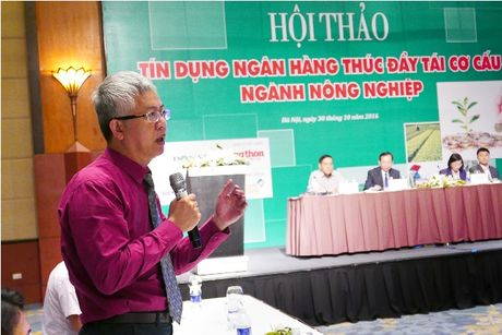 Chum anh: Toan canh hoi thao 'Tin dung ngan hang thuc day tai co cau nghanh nong nghiep' - Anh 11