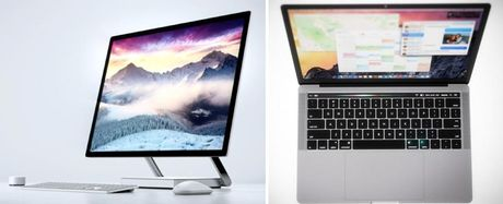 MacBook Pro so gang voi Surface Studio, mau PC nao gay chu y hon? - Anh 1