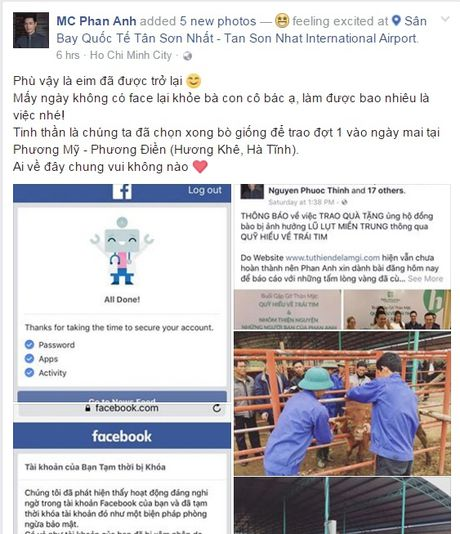 MC Phan Anh lay lai duoc facebook, chia se ve nghi an lua dao - Anh 2