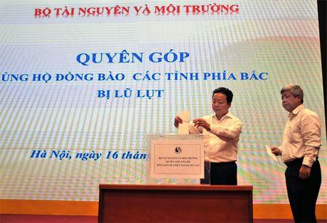 Bo TN&MT quyen gop ung ho dong bao Mien Bac, Mien Trung bi thiet hai do mua lu - Anh 3