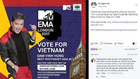 'Ho Ngoc Ha, Le Quyen… keu goi binh chon cho Dam Vinh Hung tai MTV EMA 2017 - Anh 1